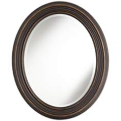 "Uttermost Ovesca 34"" High Decorative Oval Wall Mirror"