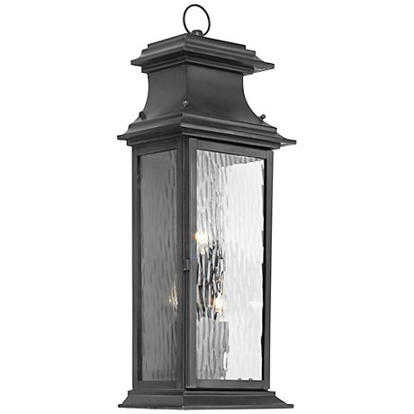"Provincial Collection 25"" High Charcoal Outdoor Wall Light"