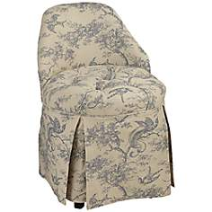 Birdsong Skirted Vanity Stool