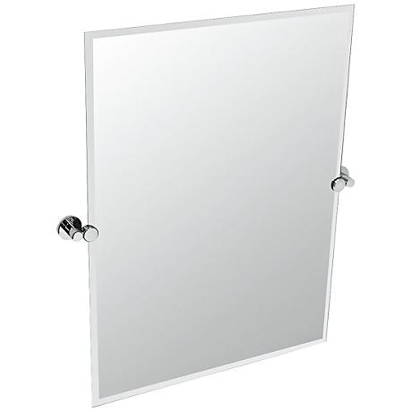 "Gatco Channel Chrome Frameless 28"" x 31 1/2"" Wall Mirror"