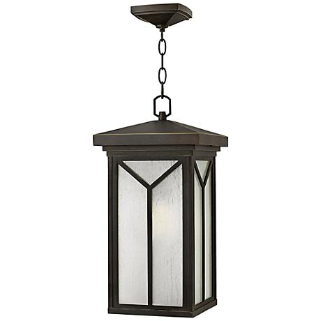"Hinkley Drake 19 1/4"" High Bronze Outdoor Hanging Light"