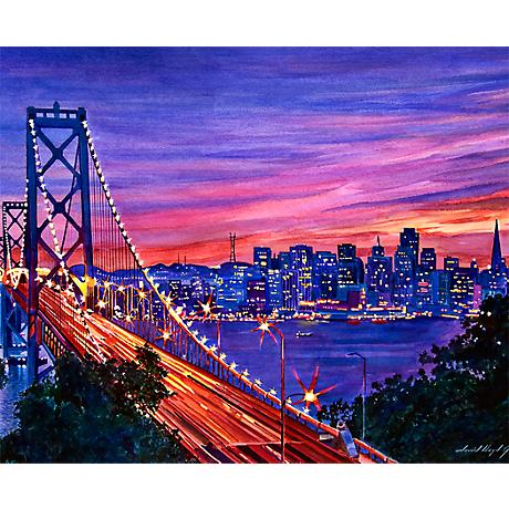 "San Francisco Nights 26"" Wide Bright Giclee Wall Art"