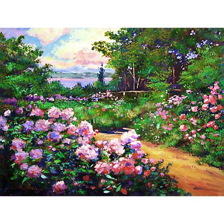 "Floral Path 20"" Wide Impressionistic Giclee Wall Art"