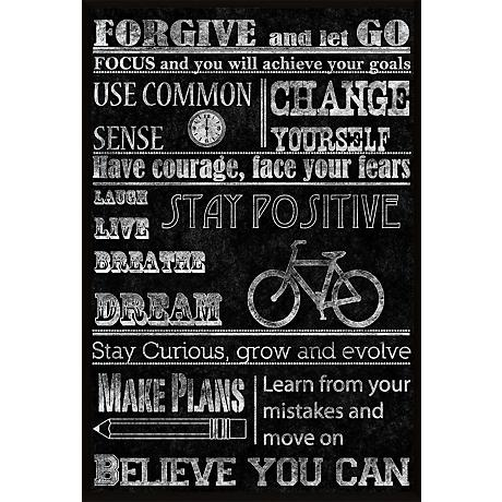 "Forgive 18 1/2"" High Inspirational Giclee Wall Art"