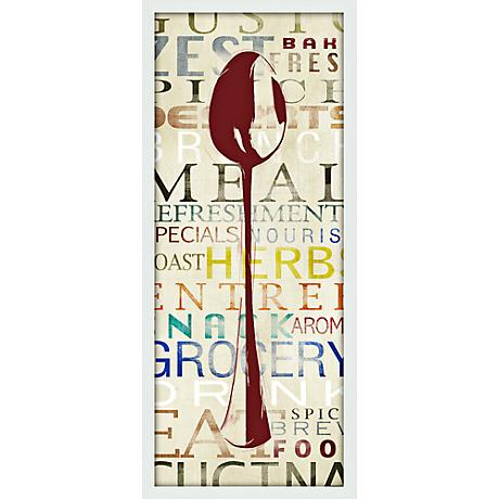 "Utensil Spoon 21"" High Contemporary Giclee Print Wall Art"
