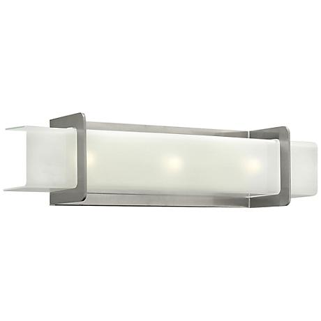 "Hinkley Union 24"" Wide Brushed Nickel Bathroom Light"
