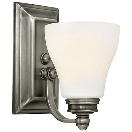 "Hinkley Claire 9 1/4"" High Antique Nickel Wall Sconce"