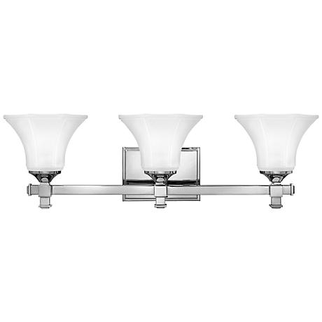 "Hinkley Abbie 25 1/4"" Wide Chrome Bathroom Light"