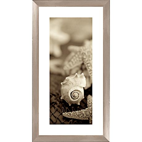 "Sepia Seashells I 26 1/2"" High Photograph Giclee Wall Art"