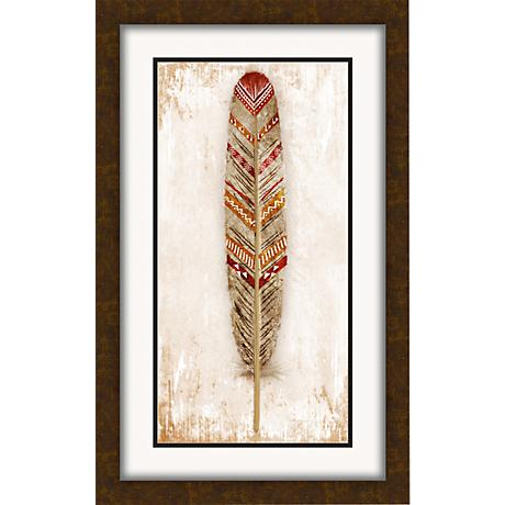 "Tribal Feather II 26 1/2"" High Modern Giclee Wall Art"