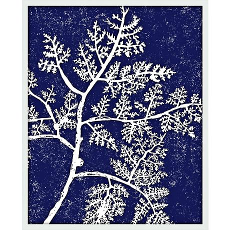 "Coral III 21"" High Abstract Giclee Silkscreened Wall Art"