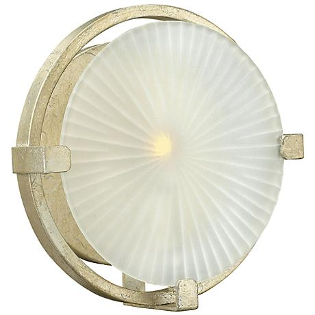 "Hinkley Helios 9 1/4"" High Silver Leaf Wall Sconce"