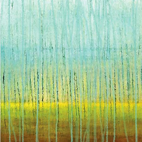 "Rain 30"" Square Abstract Giclee Print on Canvas Wall Art"
