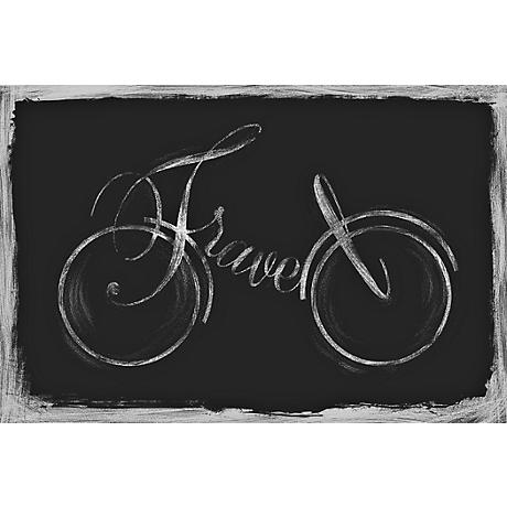 "Travel Bicycle 12"" Wide Giclee on Canvas Wall Art"