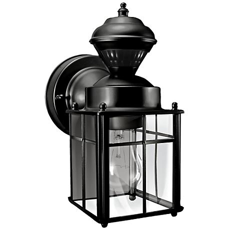 "Bayside 9 1/2"" High Motion Sensor Black Outdoor Wall Light"