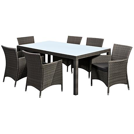 Atlantic Grand Liberty 7-Piece Gray Wicker Dining Set