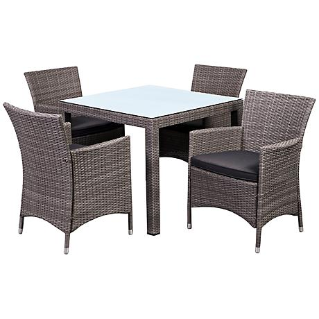 Atlantic Grand Liberty 5-Piece Gray Wicker Patio Dining Set