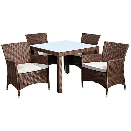 Atlantic Grand Liberty 5-Piece Brown Wicker Patio Dining Set