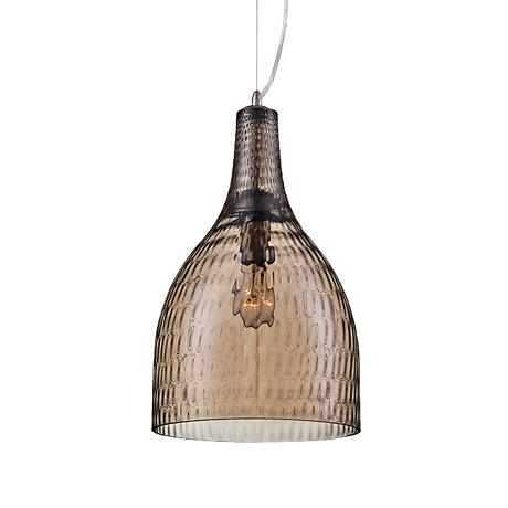 "Eurofase Altima 10"" Wide Large Amber Glass Pendant"
