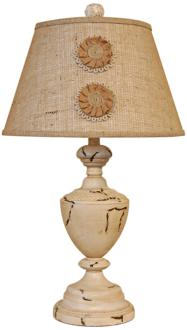 Summerlin With Burlap Applique Country Table Lamp (3K170)