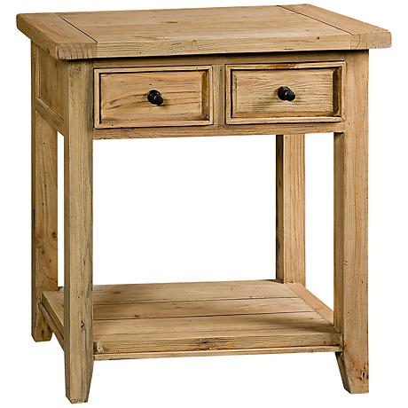 Hillsdale Tuscan Retreat 2-Drawer Pine Hall Table