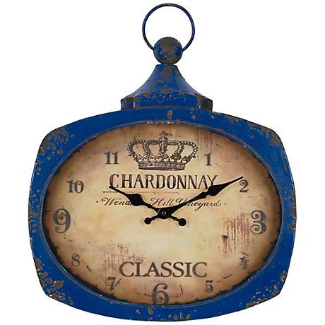"Cooper Classics Glaina 17"" High Vintage-Style Wall Clock"