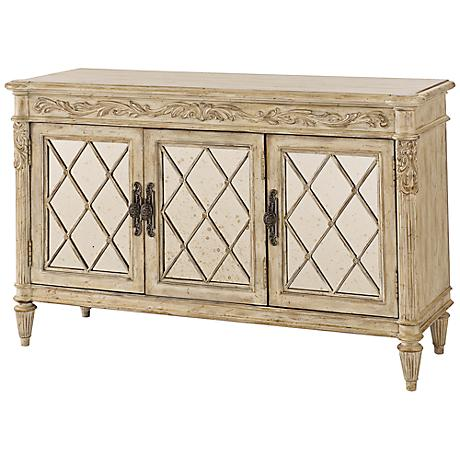 Jessica McClintock Antique Mirrored Serving Armoire