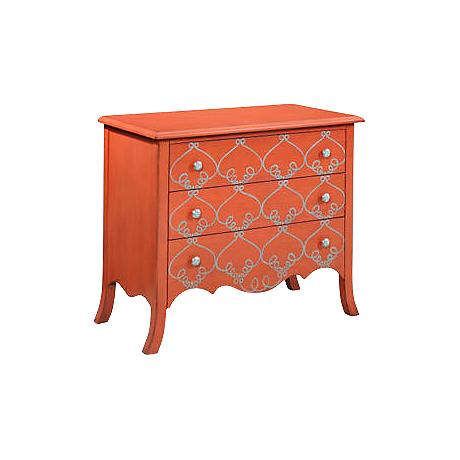 L'Orangerie Tangerine 3-Drawer Hall Chest