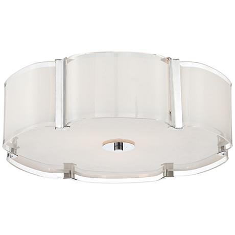 possini euro design flair 16 3 4 wide chrome ceiling light 3k580. Black Bedroom Furniture Sets. Home Design Ideas