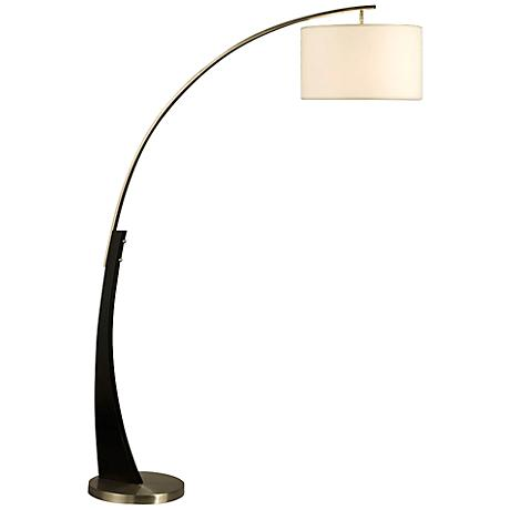 Nova Portman Brushed Nickel Arc Floor Lamp