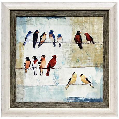 "The Usual Suspects 36"" High Framed Bird Wall Art"