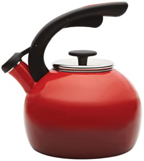 Rachael Ray 2-Quart Red Crescent Teakettle (3K813) 3K813