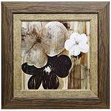 "Carrara I 27 1/2"" Square Framed Botanical Wall Art"