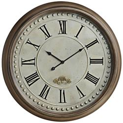 "Cooper Classics James 24"" Round Wall Clock"
