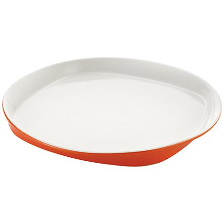 "Rachael Ray Round and Square Orange 14"" Round Platter"