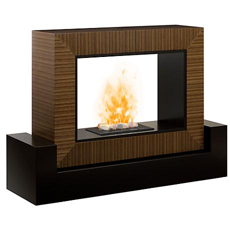 Amsden Cinnamon Two-Sided Electric Fireplace