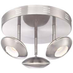 Thurston Brushed Steel LED Ceiling Light