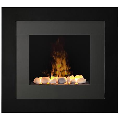 Redway Black Wall-Mount Electric Fireplace