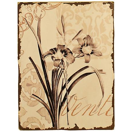 "French Floral Vente 15 3/4"" High Contemporary Wall Art"
