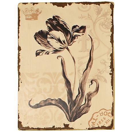 "Parrot Tulip Floral 15 3/4"" High Contemporary Wall Art"