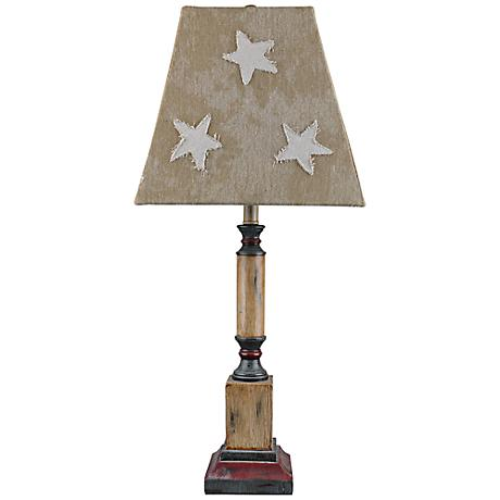 Independence Stars And Canvas Patriotic Table Lamp