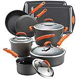 Rachael Ray 12-Piece Hard-Anodized II Cook and Bakeware Set