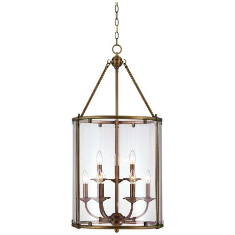 "Savoy House Foxcroft 22"" Wide Aged Brass Pendant Light"
