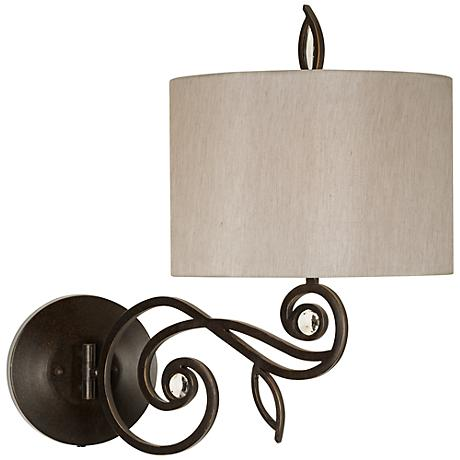 "Kathy Ireland Garden Symphony 21""H Swing Arm Wall Lamp"