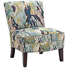 Hayden Abstraction Capri Fabric Accent Chair