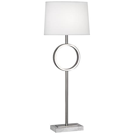 Robert Abbey Logan Polished Nickel Buffet Lamp