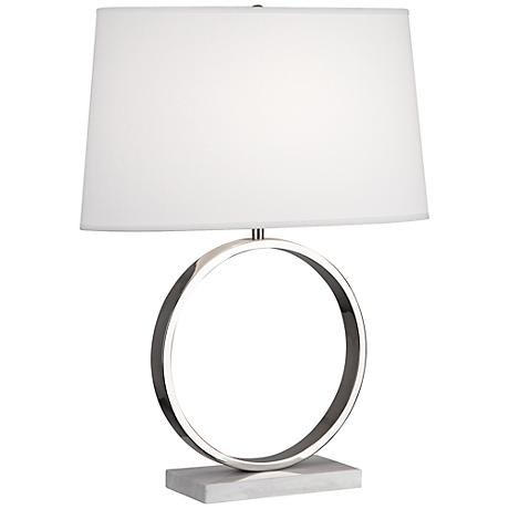 Robert Abbey Logan Polished Nickel Table Lamp