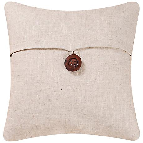 "Natural 18"" Square Envelope Throw Pillow"