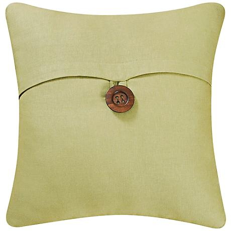 "Green 18"" Square Envelope Throw Pillow"