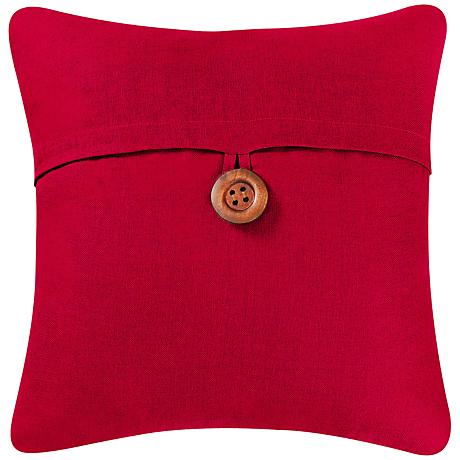 "Red 18"" Square Envelope Throw Pillow"